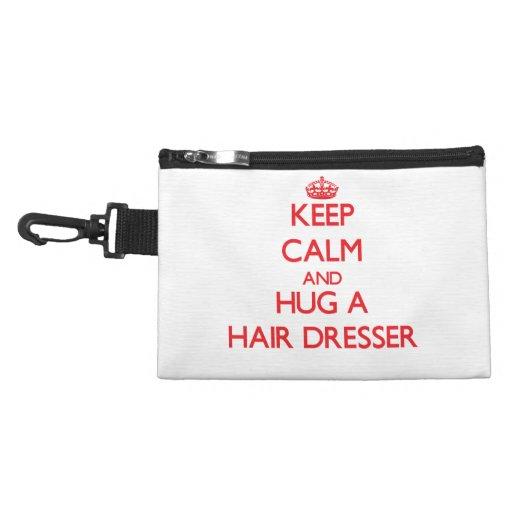 Keep Calm and Hug a Hair Dresser Accessory Bag
