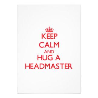 Keep Calm and Hug a Headmaster Invitations