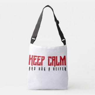 Keep Calm and Hug a Heifer Bag