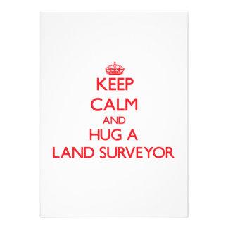 Keep Calm and Hug a Land Surveyor Custom Announcements