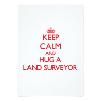 Keep Calm and Hug a Land Surveyor 13 Cm X 18 Cm Invitation Card