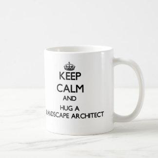 Keep Calm and Hug a Landscape Architect Basic White Mug