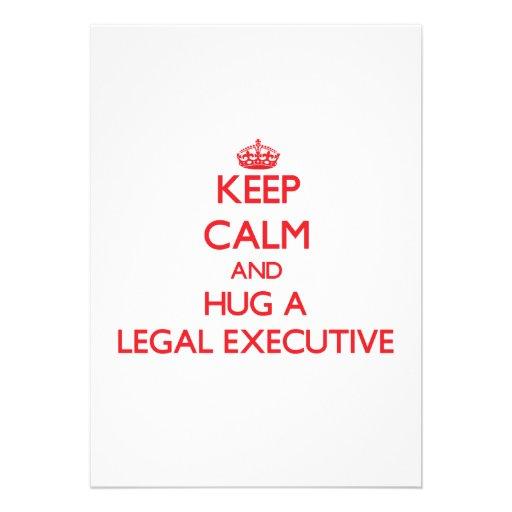 Keep Calm and Hug a Legal Executive Custom Invites