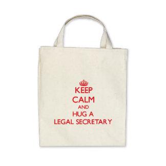 Keep Calm and Hug a Legal Secretary Bags