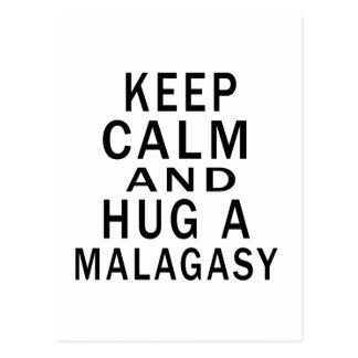 Keep Calm And Hug A Malagasy Postcard