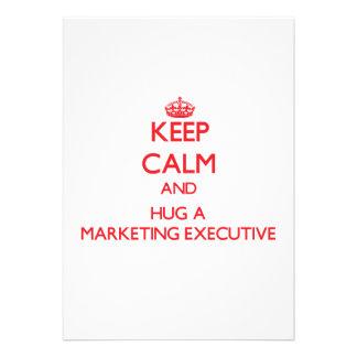 Keep Calm and Hug a Marketing Executive Invites