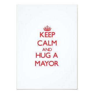 Keep Calm and Hug a Mayor Cards