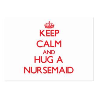 Keep Calm and Hug a Nursemaid Pack Of Chubby Business Cards