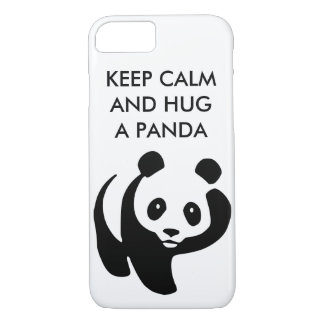 Keep Calm and Hug a Panda iPhone 7 Case