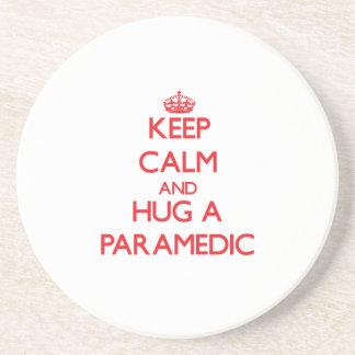 Keep Calm and Hug a Paramedic Beverage Coaster