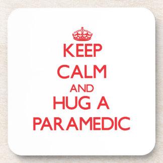 Keep Calm and Hug a Paramedic Drink Coaster