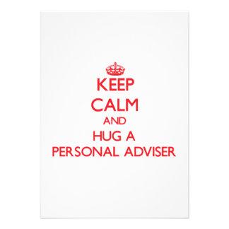 Keep Calm and Hug a Personal Adviser Announcement