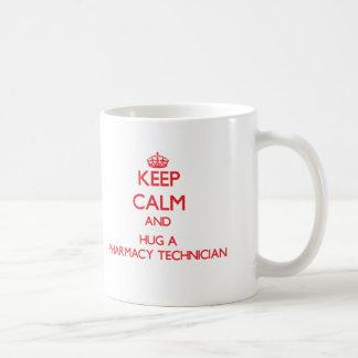 Keep Calm and Hug a Pharmacy Technician Basic White Mug
