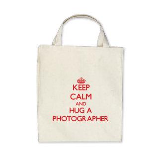 Keep Calm and Hug a Photographer Canvas Bag