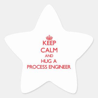 Keep Calm and Hug a Process Engineer Star Sticker