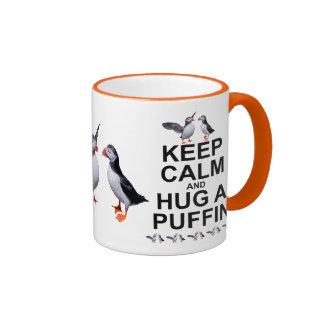 Keep Calm and Hug a Puffin Mug