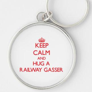 Keep Calm and Hug a Railway Gasser Keychain