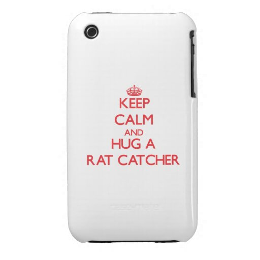 Keep Calm and Hug a Rat Catcher iPhone 3 Case-Mate Cases