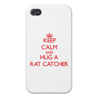 Keep Calm and Hug a Rat Catcher Cases For iPhone 4