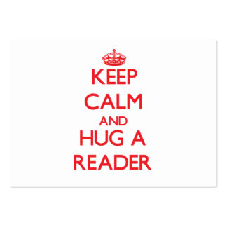 Keep Calm and Hug a Reader Business Card Template