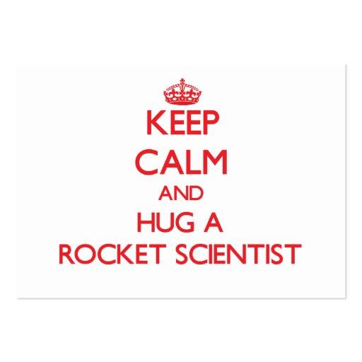 Keep Calm and Hug a Rocket Scientist Business Card Templates