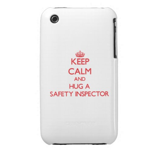 Keep Calm and Hug a Safety Inspector Case-Mate iPhone 3 Case