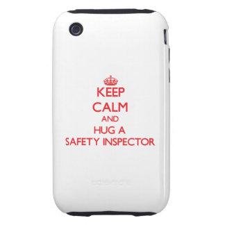Keep Calm and Hug a Safety Inspector iPhone 3 Tough Case