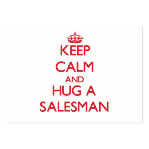 Keep Calm and Hug a Salesman Business Card Template