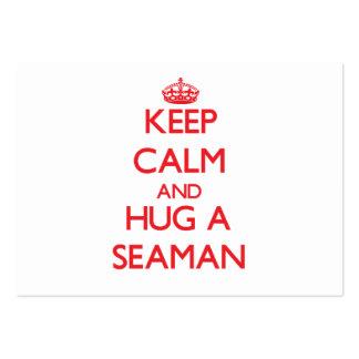 Keep Calm and Hug a Seaman Business Card Templates