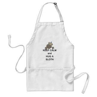 Keep Calm and Hug a Sloth Meme Standard Apron