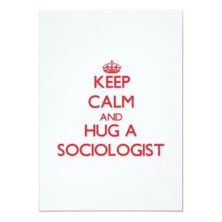 Keep Calm and Hug a Sociologist Custom Announcements