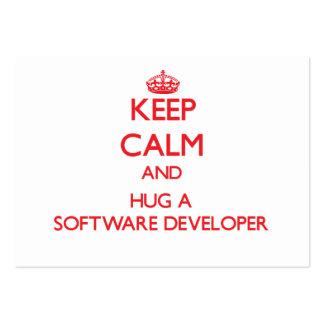 Keep Calm and Hug a Software Developer Business Cards
