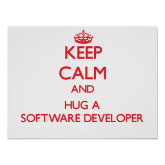 Keep Calm and Hug a Software Developer Posters