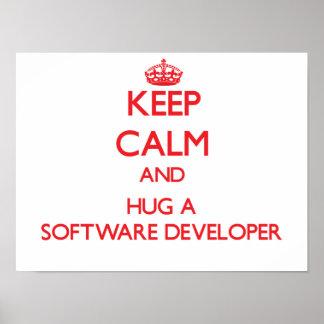 Keep Calm and Hug a Software Developer Print