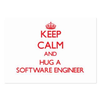 Keep Calm and Hug a Software Engineer Business Card