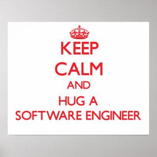 Keep Calm and Hug a Software Engineer Poster