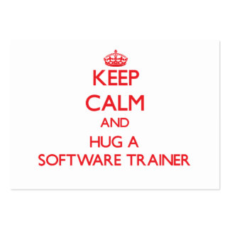 Keep Calm and Hug a Software Trainer Business Card Template