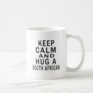 Keep Calm And Hug A South African Mugs