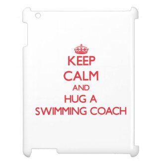 Keep Calm and Hug a Swimming Coach iPad Covers