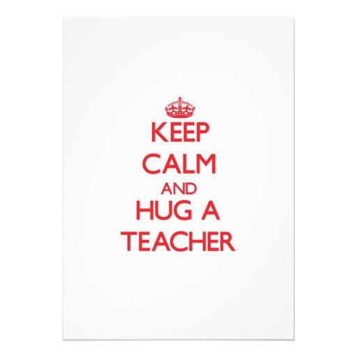 Keep Calm and Hug a Teacher Invitations