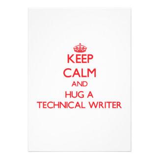 Keep Calm and Hug a Technical Writer Custom Invite