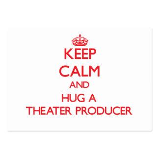 Keep Calm and Hug a Theater Producer Business Card Templates