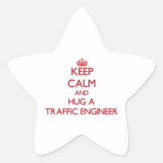 Keep Calm and Hug a Traffic Engineer Stickers