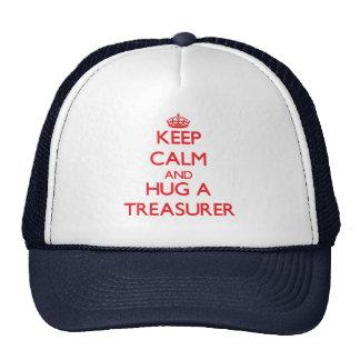 Keep Calm and Hug a Treasurer Trucker Hat