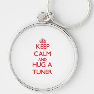 Keep Calm and Hug a Tuner Key Chain