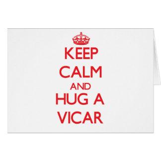 Keep Calm and Hug a Vicar Greeting Cards