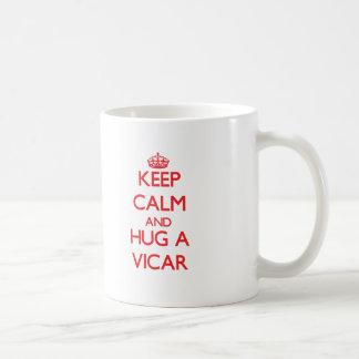 Keep Calm and Hug a Vicar Basic White Mug