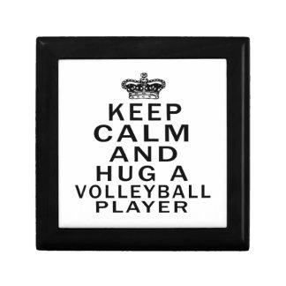 Keep Calm And Hug A Volleyball Player Trinket Box