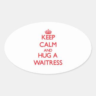 Keep Calm and Hug a Waitress Stickers