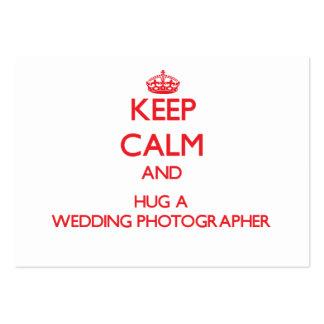 Keep Calm and Hug a Wedding Photographer Business Card